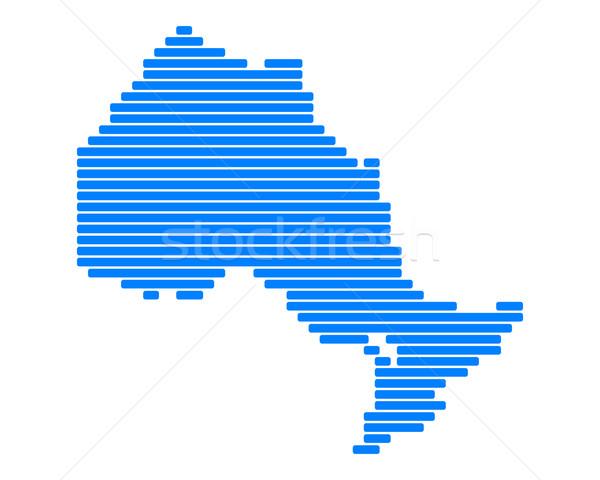 карта Онтарио синий линия линия точки Сток-фото © rbiedermann