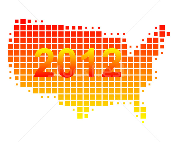 Carte USA 2012 fond orange modèle Photo stock © rbiedermann
