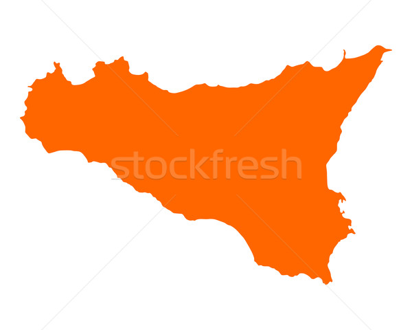 Mapa sicília ilha vetor isolado ilustração Foto stock © rbiedermann