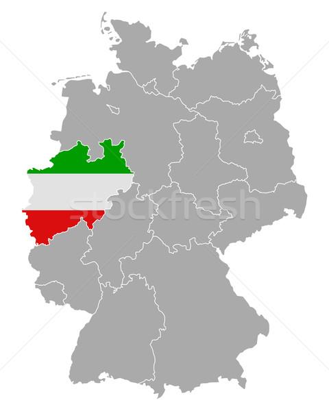 ストックフォト: 地図 · ドイツ · フラグ · 北 · 旅行 · バナー