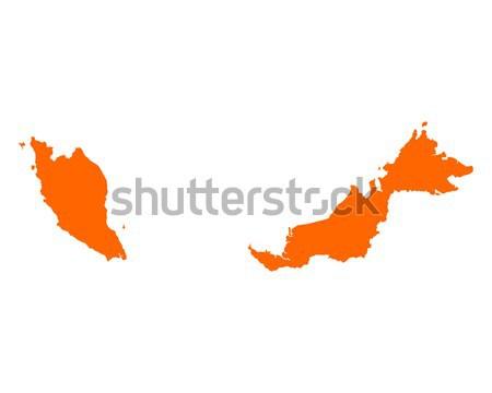 Mapa Malásia viajar vetor Foto stock © rbiedermann
