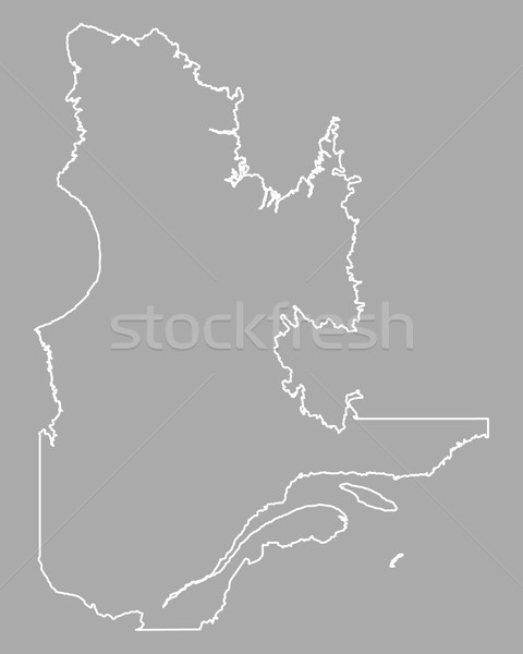 Kaart Quebec Canada geïsoleerd illustratie Stockfoto © rbiedermann