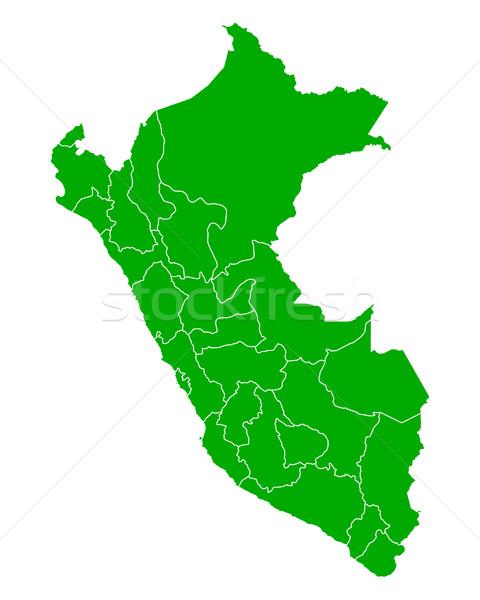 Térkép zöld vektor izolált illusztráció földrajz Stock fotó © rbiedermann