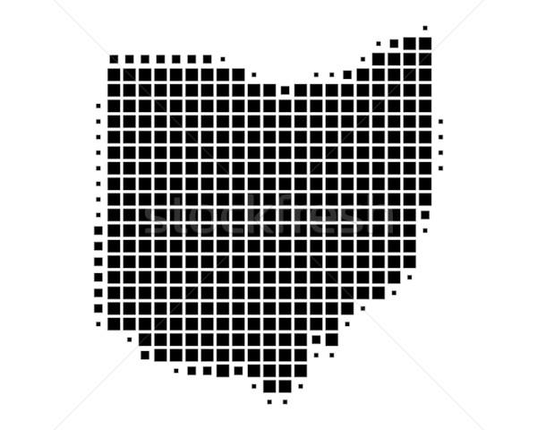 地図 オハイオ州 黒 パターン アメリカ 広場 ストックフォト © rbiedermann
