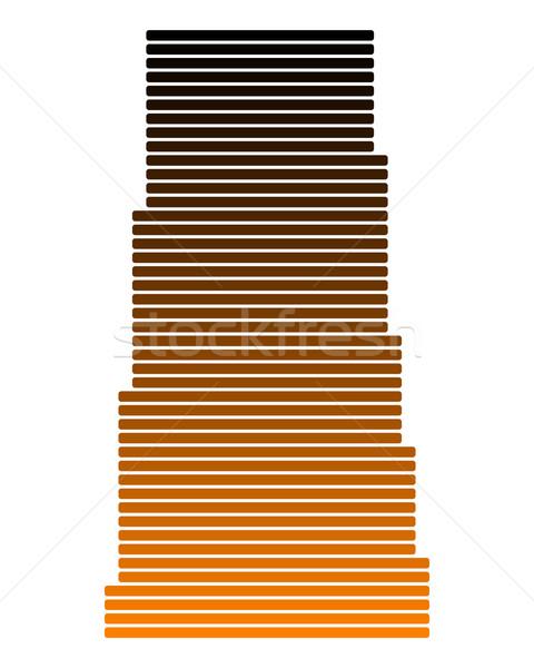 Kaart saskatchewan lijn lijnen punt vector Stockfoto © rbiedermann