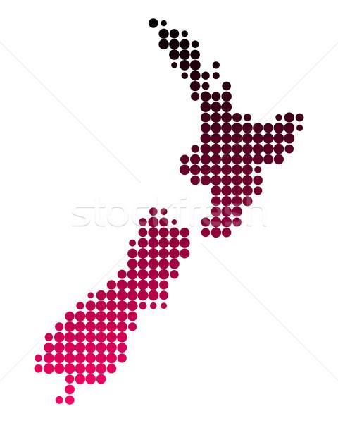 карта Новая Зеландия острове шаблон стране новых Сток-фото © rbiedermann