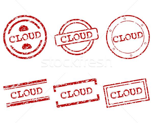 Stockfoto: Wolk · postzegels · stempel · grafische · tag · zegel