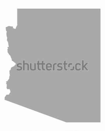 Mapa Arizona viajar américa EUA isolado Foto stock © rbiedermann