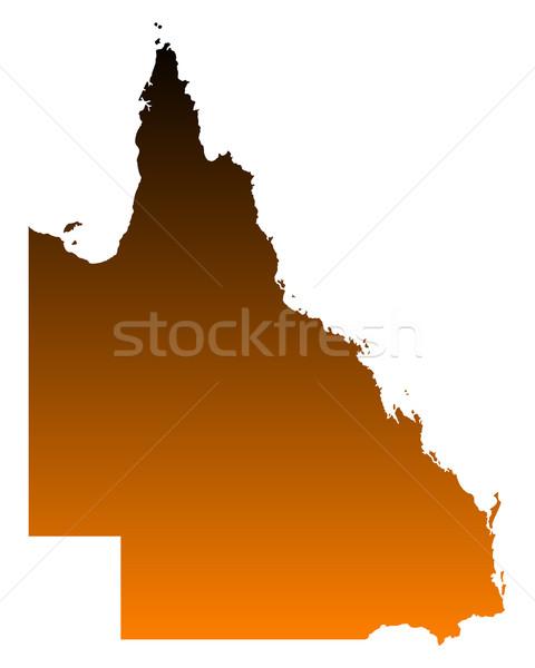 地図 クイーンズランド州 ベクトル オーストラリア 孤立した 実例 ストックフォト © rbiedermann