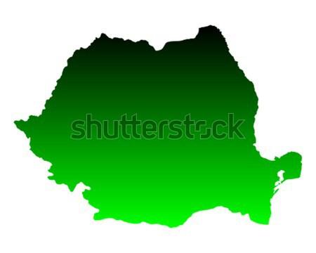 Pokaż Rumunia zielone podróży wektora Zdjęcia stock © rbiedermann