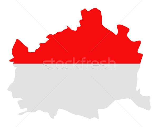 Térkép zászló Bécs háttér utazás vonal Stock fotó © rbiedermann