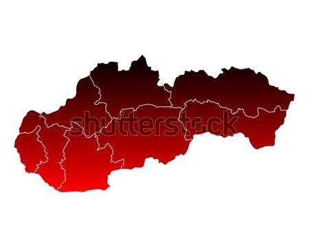 Mapa Eslováquia viajar rosa fronteira isolado Foto stock © rbiedermann