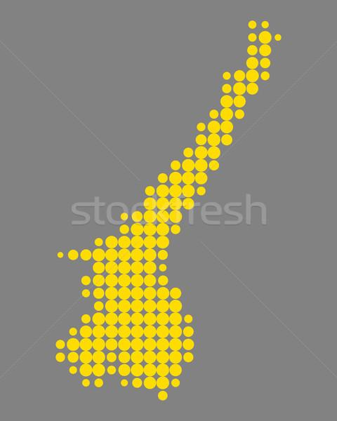 Map of Lake Garda Stock photo © rbiedermann