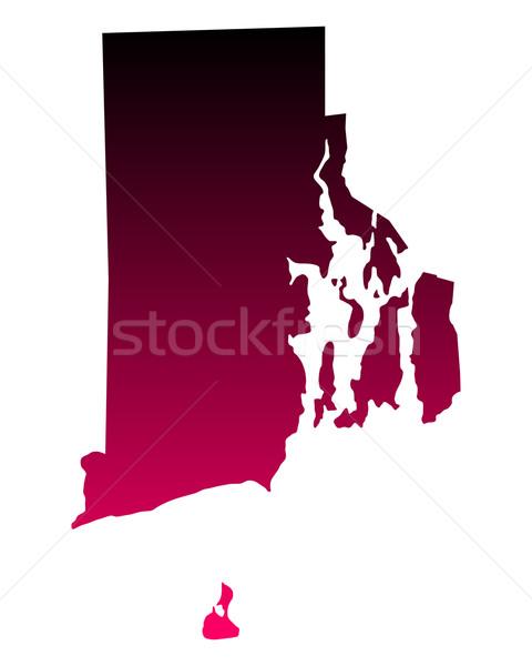 Harita Rhode Island seyahat pembe Amerika mor Stok fotoğraf © rbiedermann