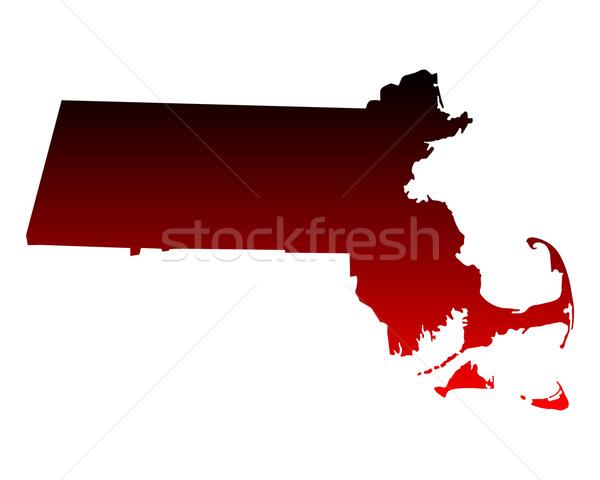 Harita Massachusetts seyahat kırmızı Amerika ABD Stok fotoğraf © rbiedermann
