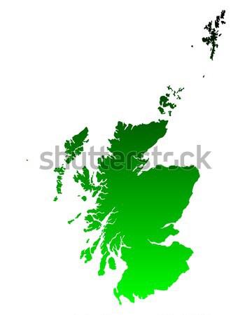 Harita İskoçya arka plan hat Stok fotoğraf © rbiedermann