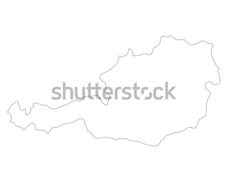 Map of Austria Stock photo © rbiedermann