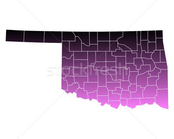 Kaart roze usa vector geïsoleerd illustratie Stockfoto © rbiedermann