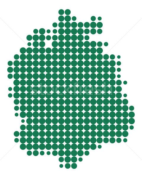 Harita Zürih yeşil model daire nokta Stok fotoğraf © rbiedermann