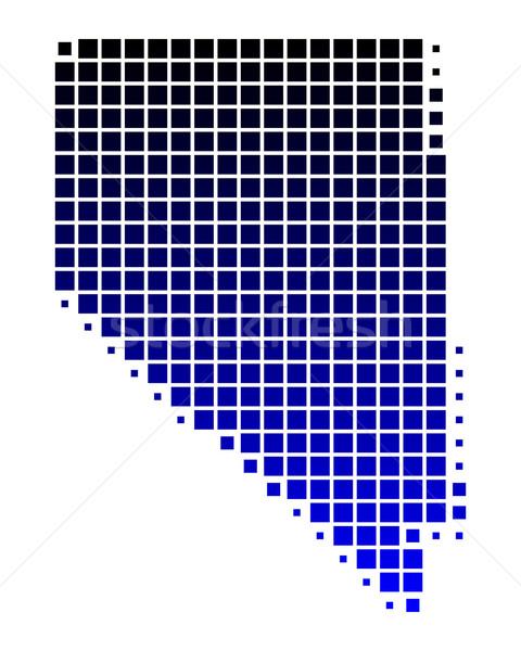 Carte Nevada bleu modèle Amérique carré Photo stock © rbiedermann