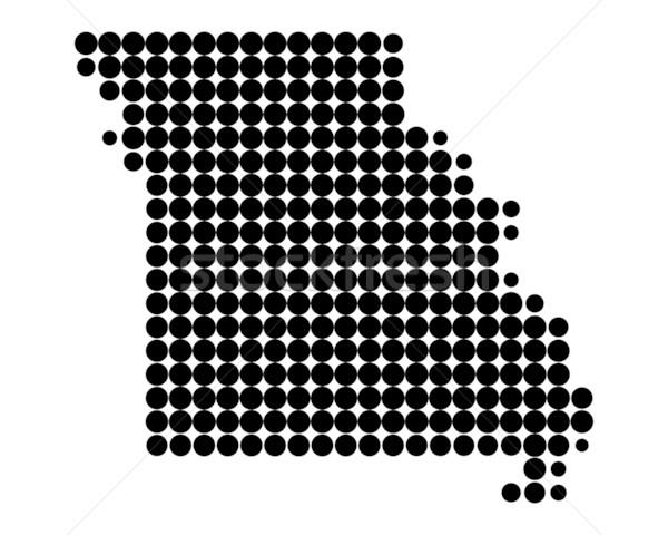 Mapa Misuri negro patrón América círculo Foto stock © rbiedermann