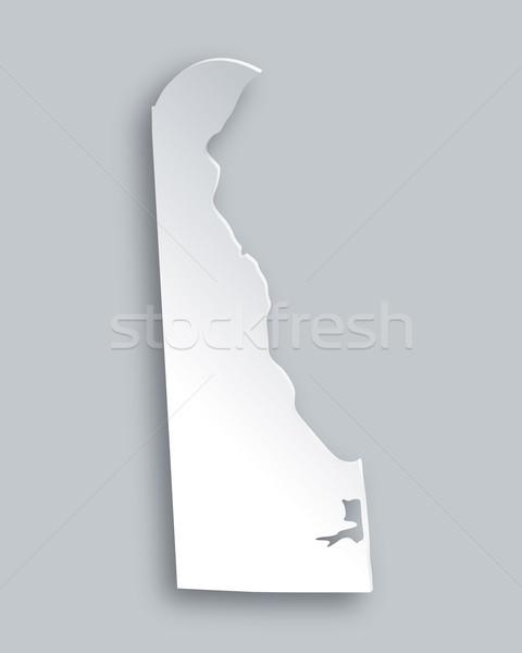 Foto stock: Mapa · Delaware · papel · fundo · viajar · cartão