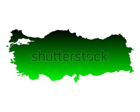 Kaart Letland groene vector geïsoleerd Stockfoto © rbiedermann
