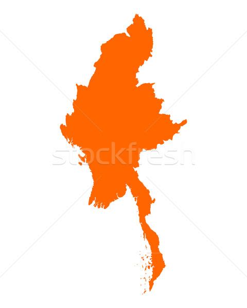 地図 ミャンマー ベクトル 孤立した 実例 ストックフォト © rbiedermann