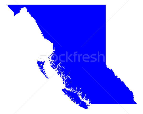 Map of British Columbia Stock photo © rbiedermann
