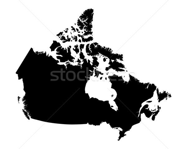 Mapa Canadá preto vetor isolado Foto stock © rbiedermann