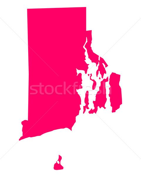 Mapa Rhode Island viajar américa roxo isolado Foto stock © rbiedermann