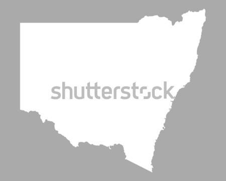 Mapa nueva gales del sur fondo línea Australia ilustración Foto stock © rbiedermann