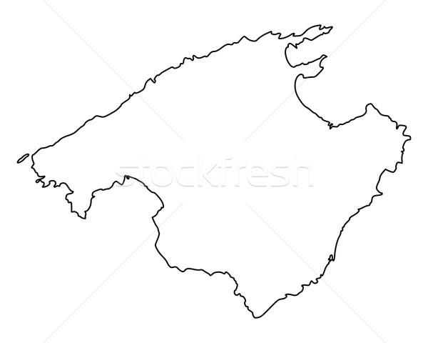 Kaart majorca vector Spanje geïsoleerd illustratie Stockfoto © rbiedermann