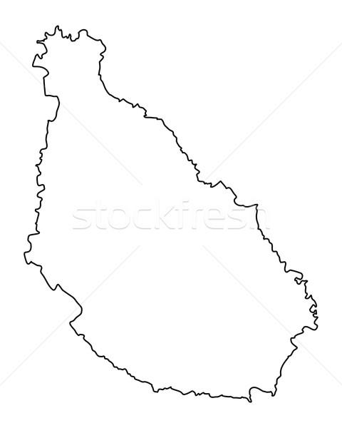 Mapa Santiago vector aislado ilustración gris Foto stock © rbiedermann