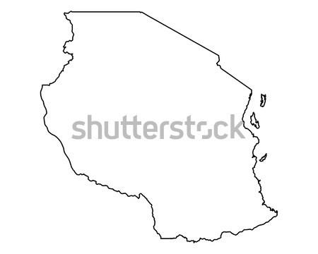 Pokaż Tanzania tle odizolowany ilustracja Zdjęcia stock © rbiedermann