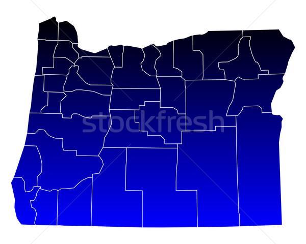 Harita Oregon mavi seyahat ABD yalıtılmış Stok fotoğraf © rbiedermann
