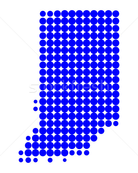 Harita Indiana mavi model Amerika daire Stok fotoğraf © rbiedermann