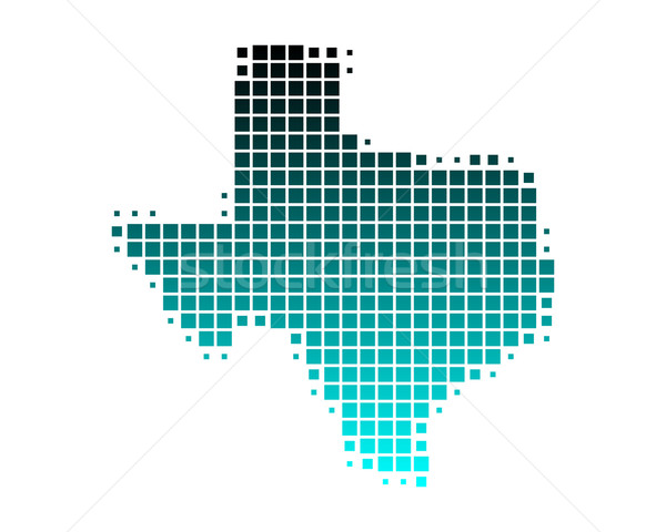 Carte Texas vert bleu modèle Amérique Photo stock © rbiedermann