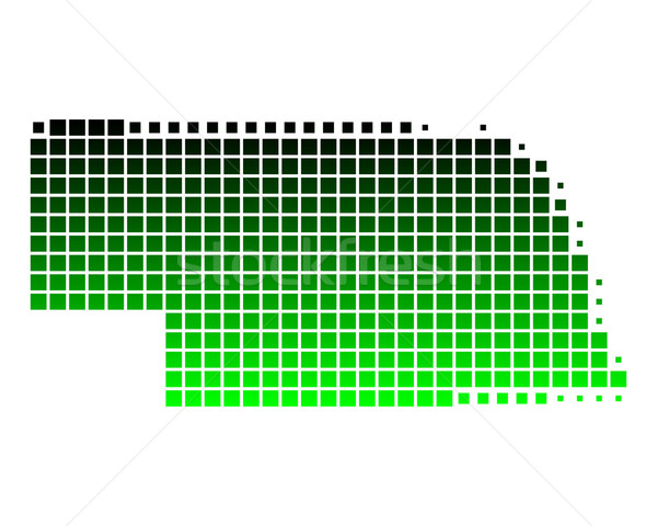 Mappa Nebraska verde pattern america piazza Foto d'archivio © rbiedermann