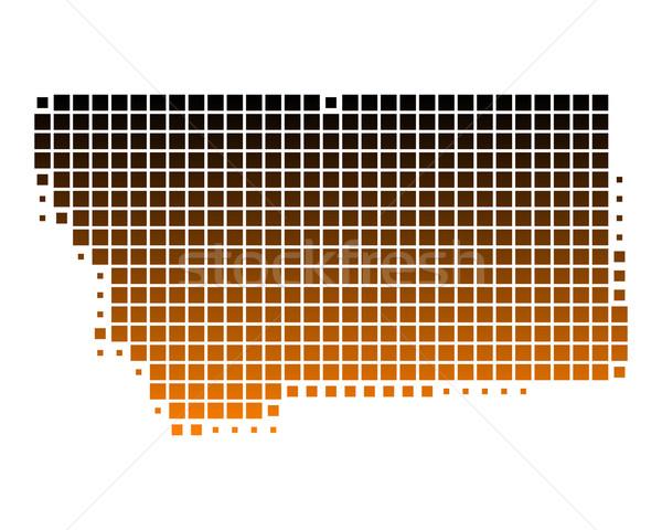 карта Монтана шаблон Америки квадратный иллюстрация Сток-фото © rbiedermann
