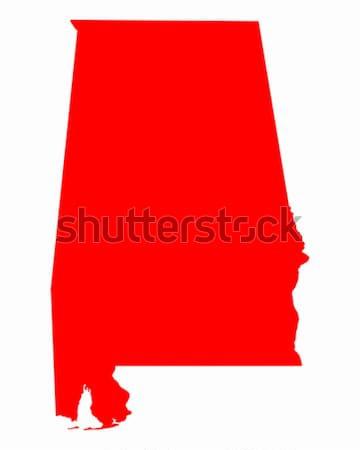 карта Алабама путешествия красный Америки США Сток-фото © rbiedermann
