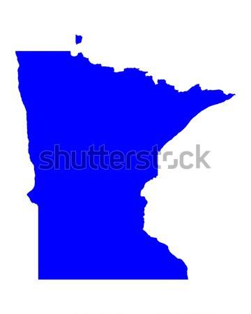 Mapa Minnesota azul viajar américa EUA Foto stock © rbiedermann