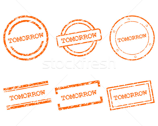 Demain timbres design lettre tampon tag Photo stock © rbiedermann