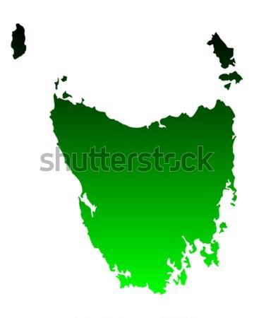 Harita tazmanya yeşil vektör Avustralya yalıtılmış Stok fotoğraf © rbiedermann