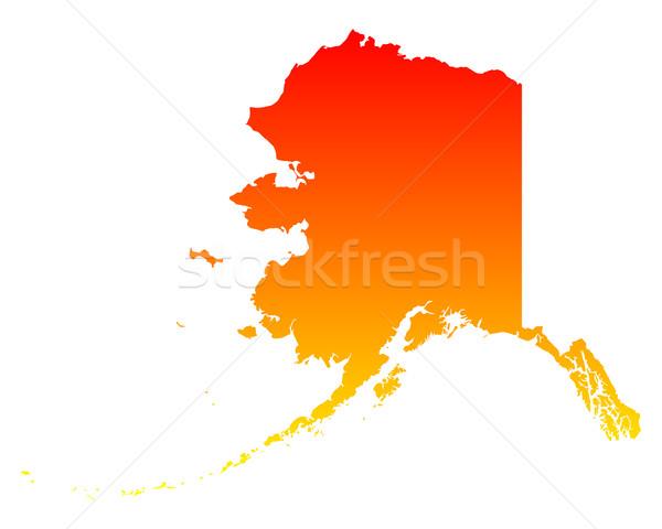 Carte Alaska Voyage Amérique USA isolé Photo stock © rbiedermann