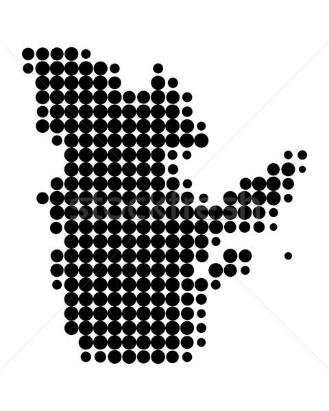 Harita Quebec siyah model daire nokta Stok fotoğraf © rbiedermann