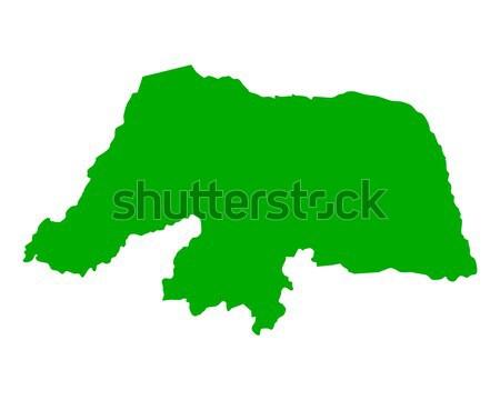 Сток-фото: карта · Рио · фон · зеленый · линия · вектора