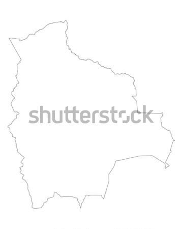 карта Боливия фон изолированный иллюстрация Сток-фото © rbiedermann