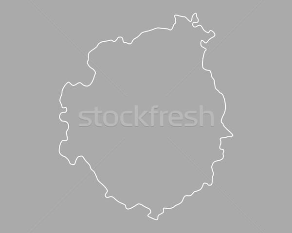 карта острове вектора изолированный иллюстрация серый Сток-фото © rbiedermann