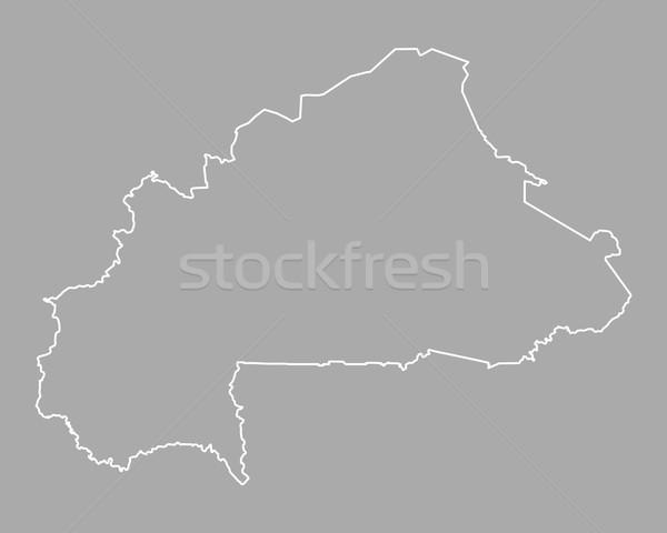 Map of Burkina Faso Stock photo © rbiedermann